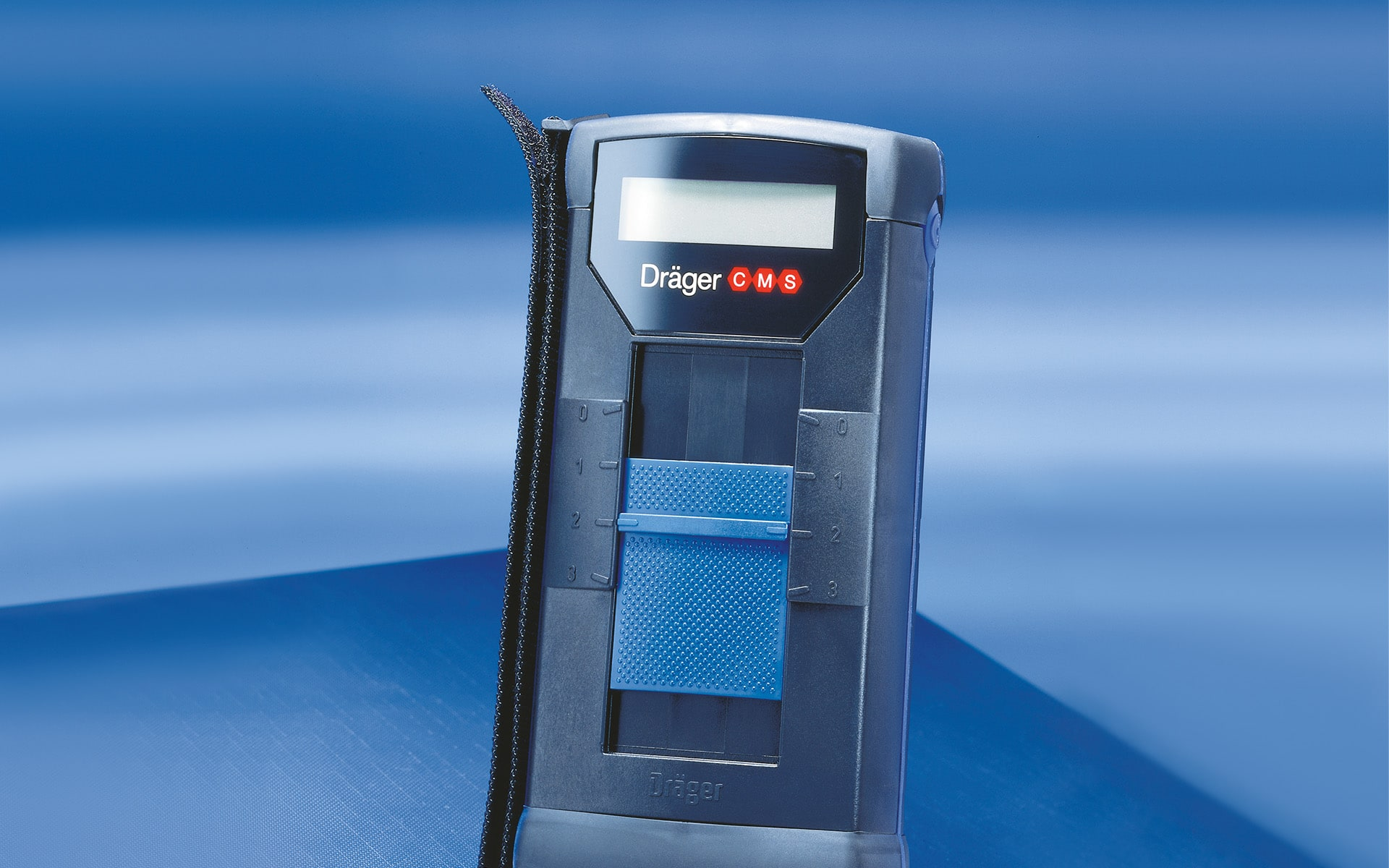 Dark blue Gas meter for Dräger Germany by ITO Design, created in 1994