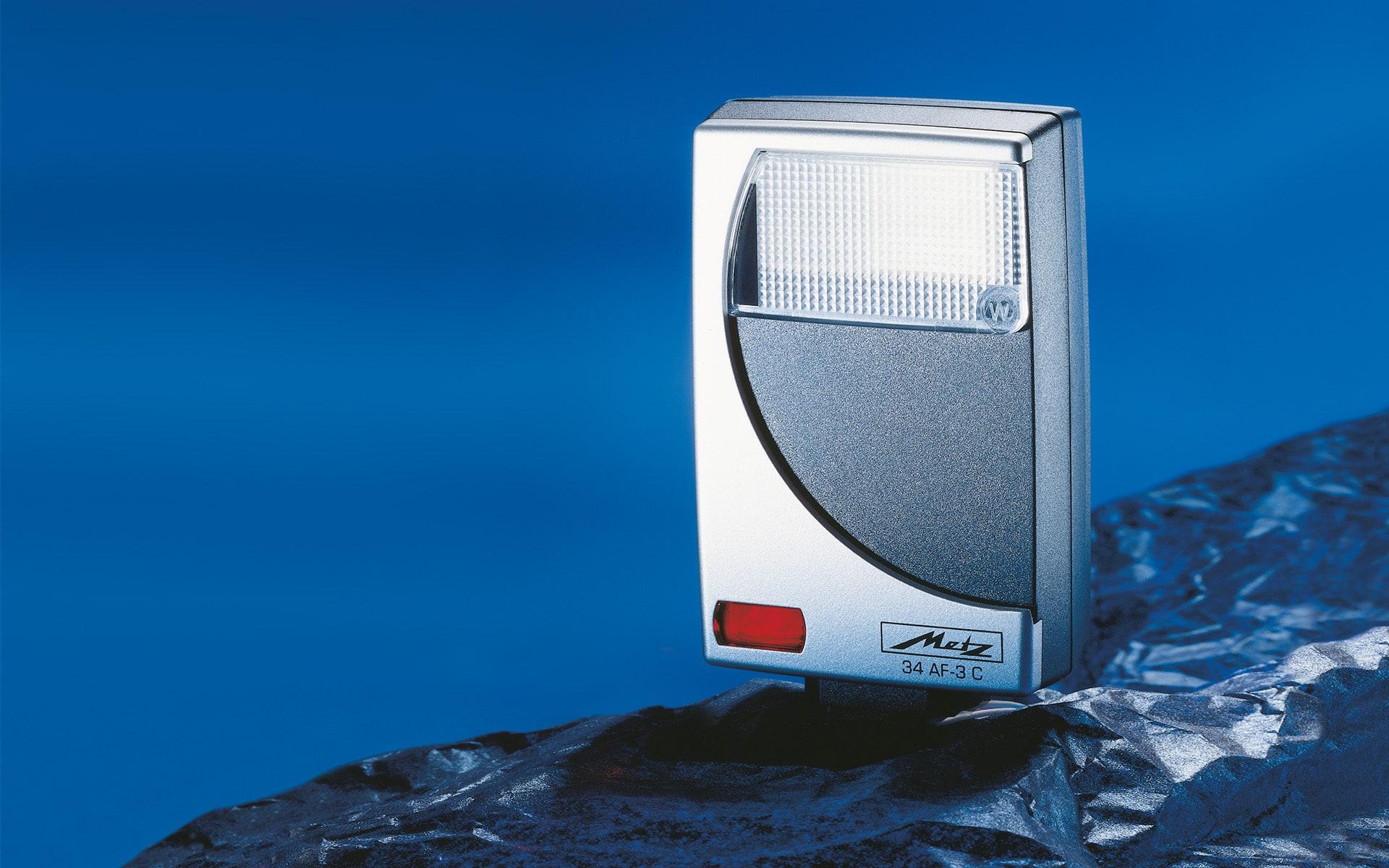 Blitzgerät für Metz von ITO Design, 1995 entworfen