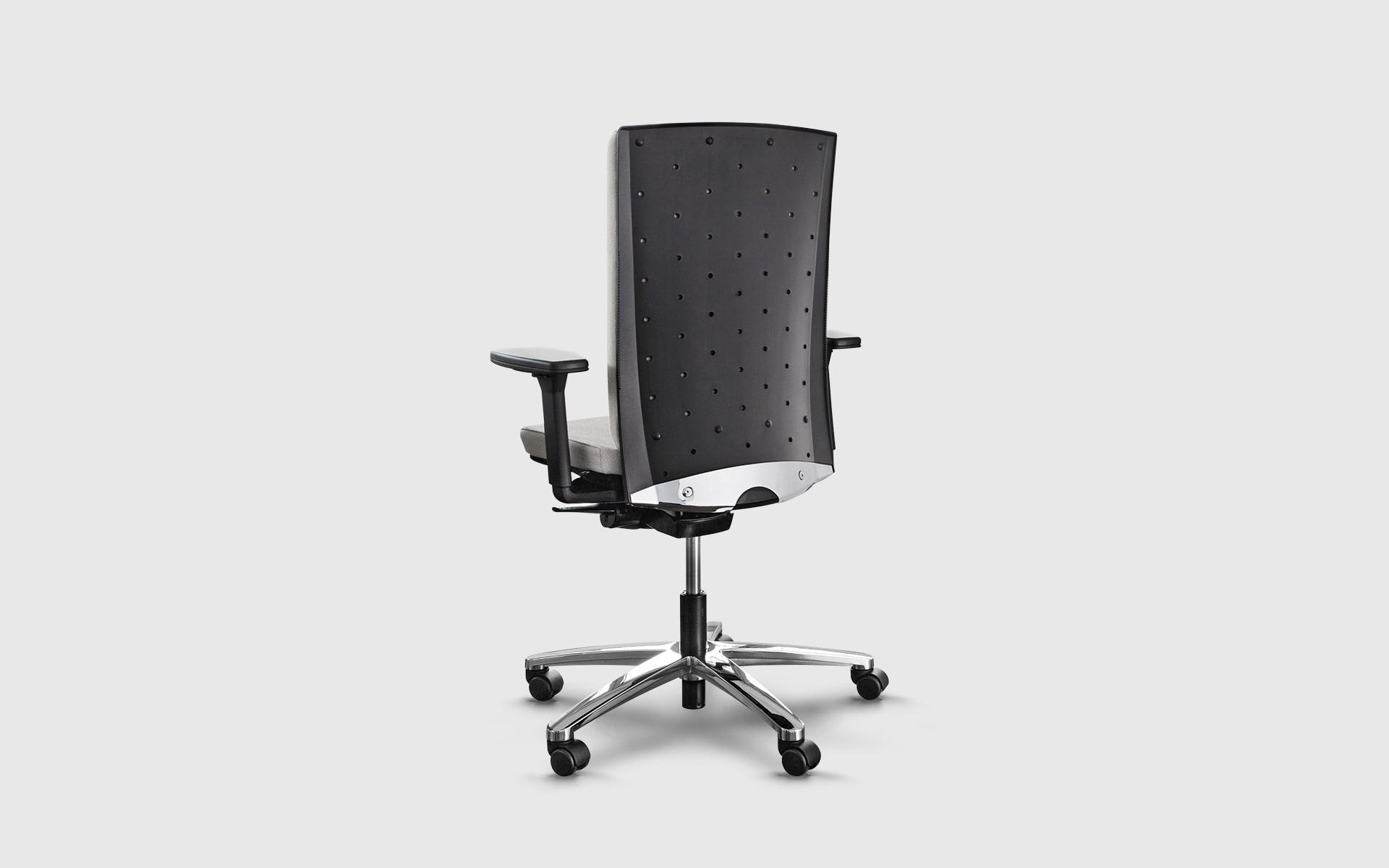 König + Neurath Tensa Bürostuhl von ITO Design mit ergonomischer schwarzer Lehne