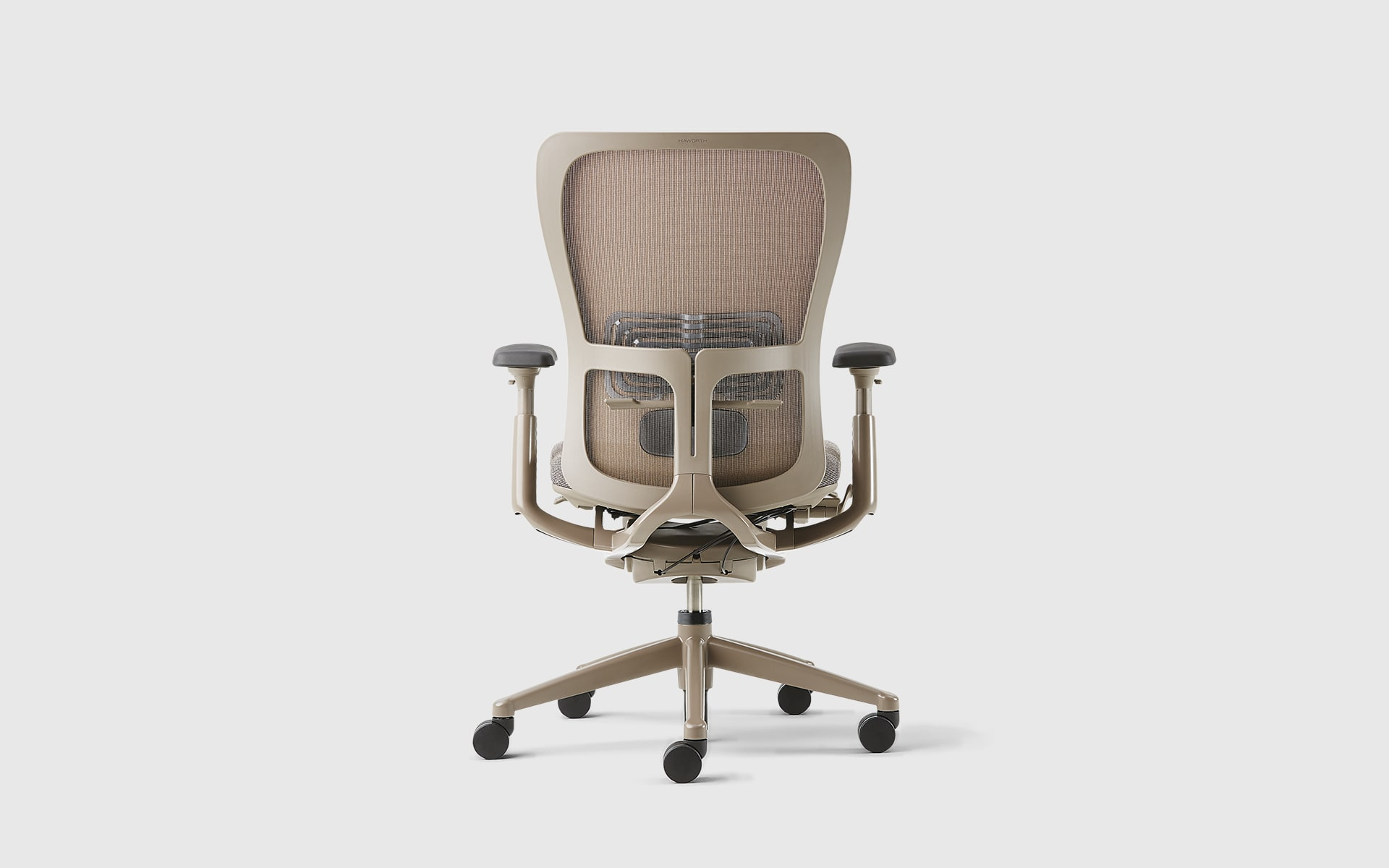 Haworth Zody office chair by ITO Design with brown backrest