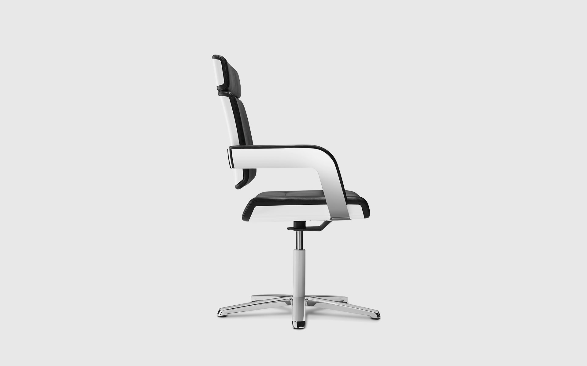 Black-and-white K+N Charta conference chair by ITO Design