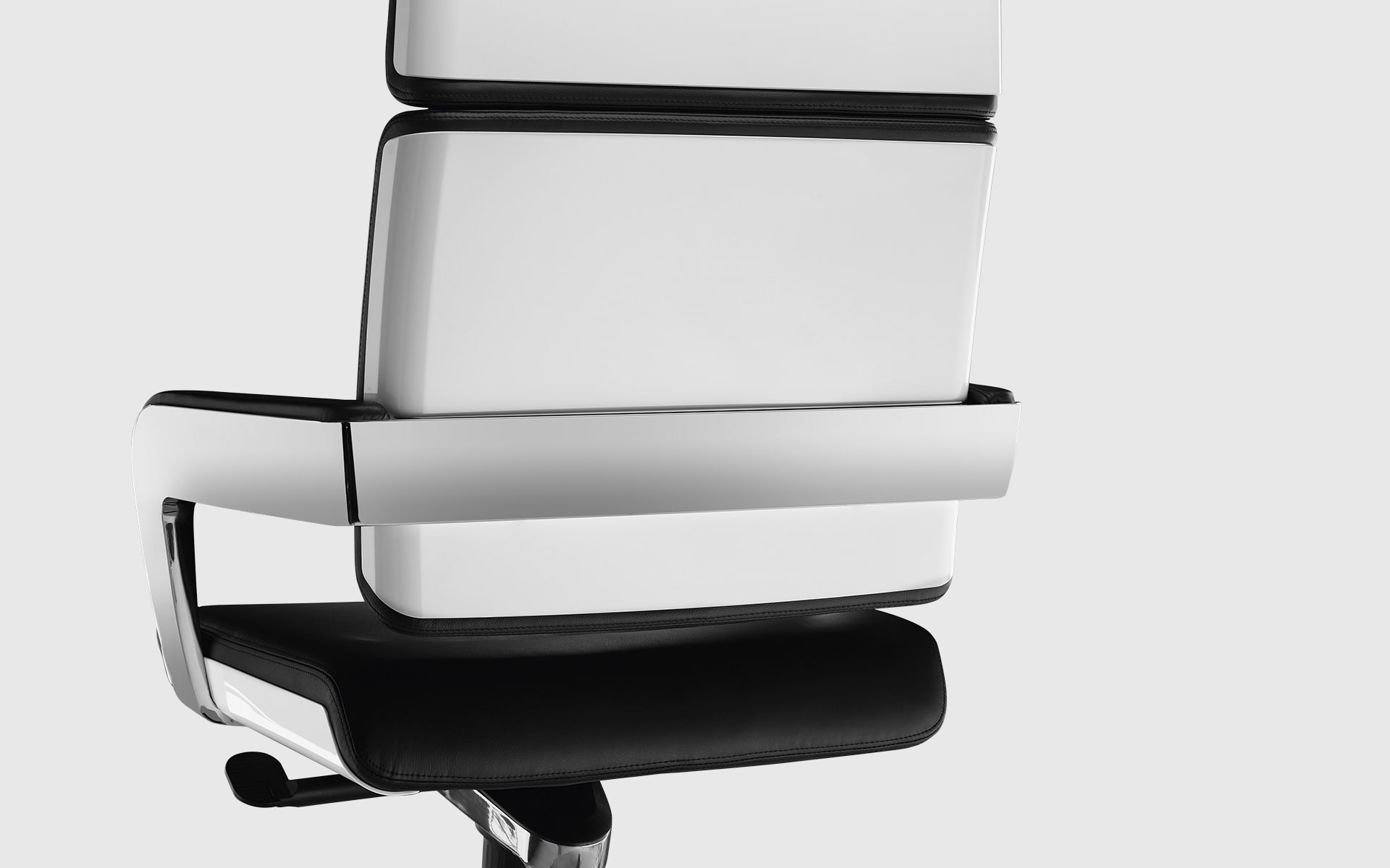 Close-up of the backrest of the K+N Charta conference chair by ITO Design