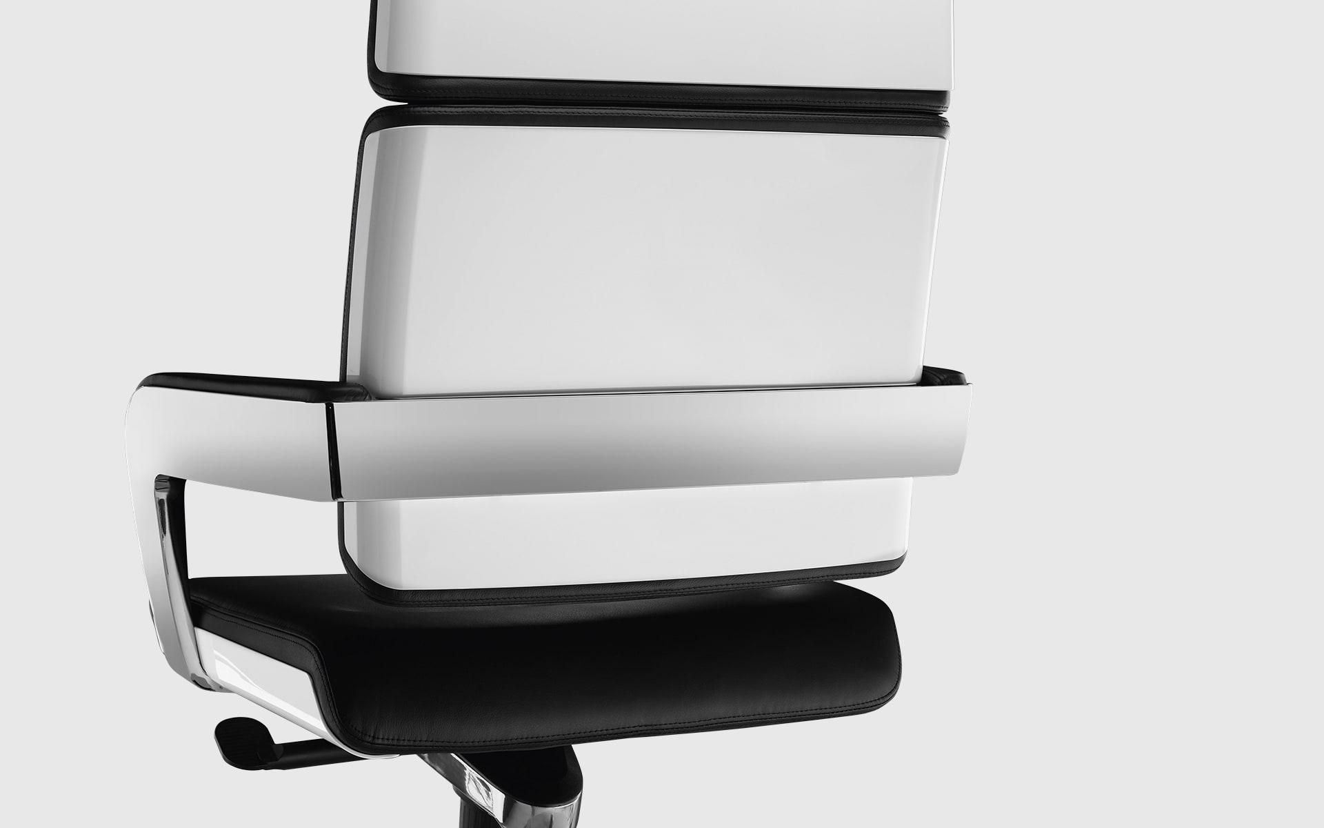 Nahaufnahme der Rückenlehne des K+N Charta Konferenzstuhls von ITO Design