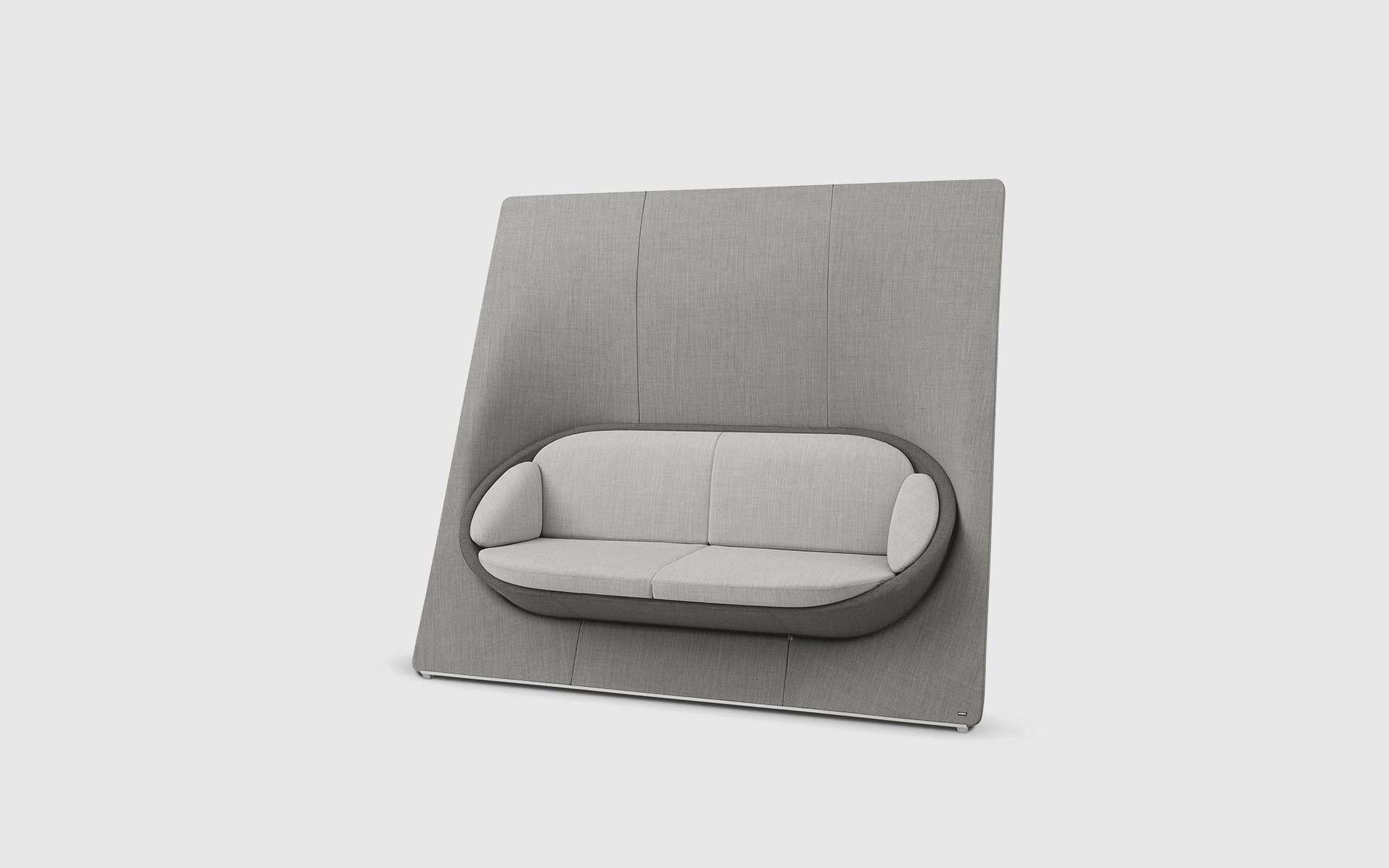 Profim Wyspa lounge seating system by ITO Design in dusky pink and gray