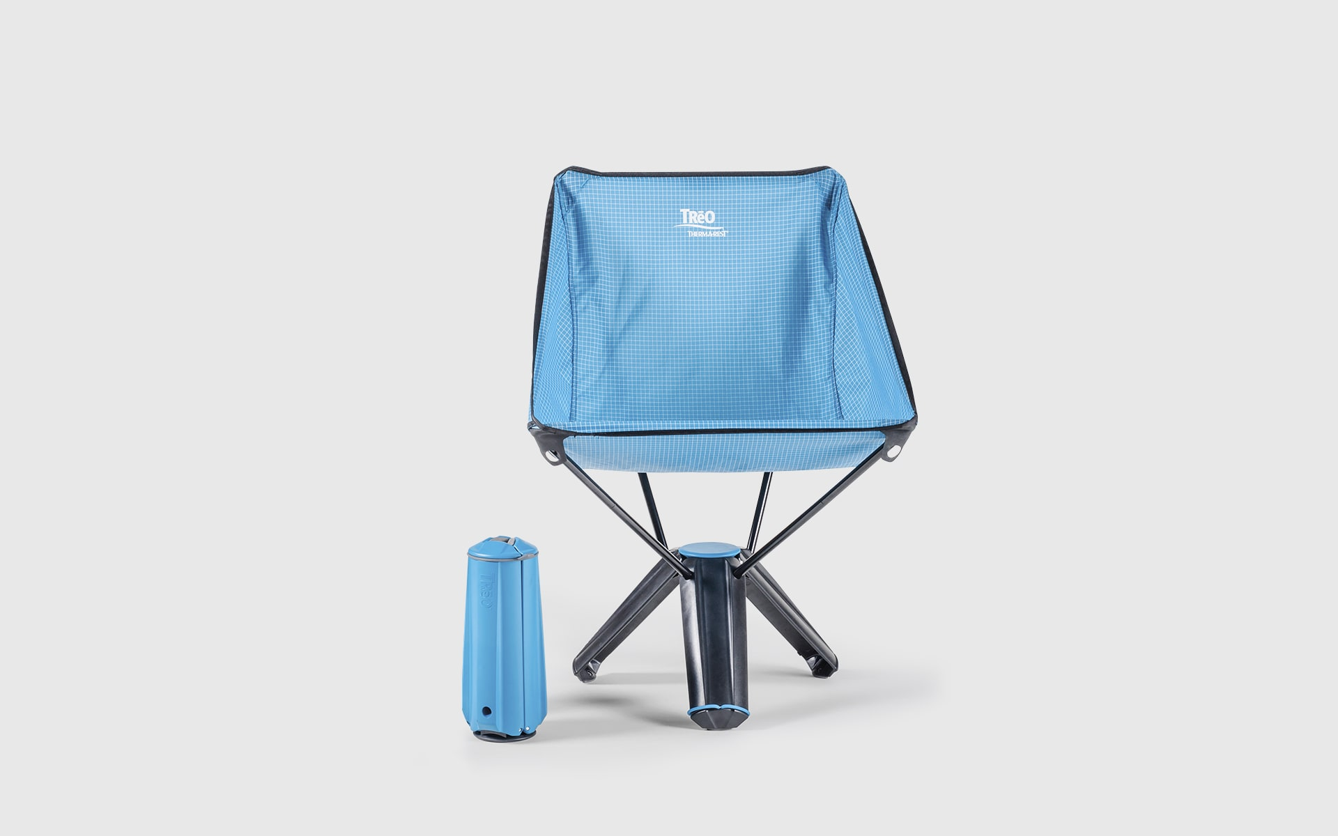 Collapsable outdoor chair Therm-a-Rest Treo by ITO Design in blue
