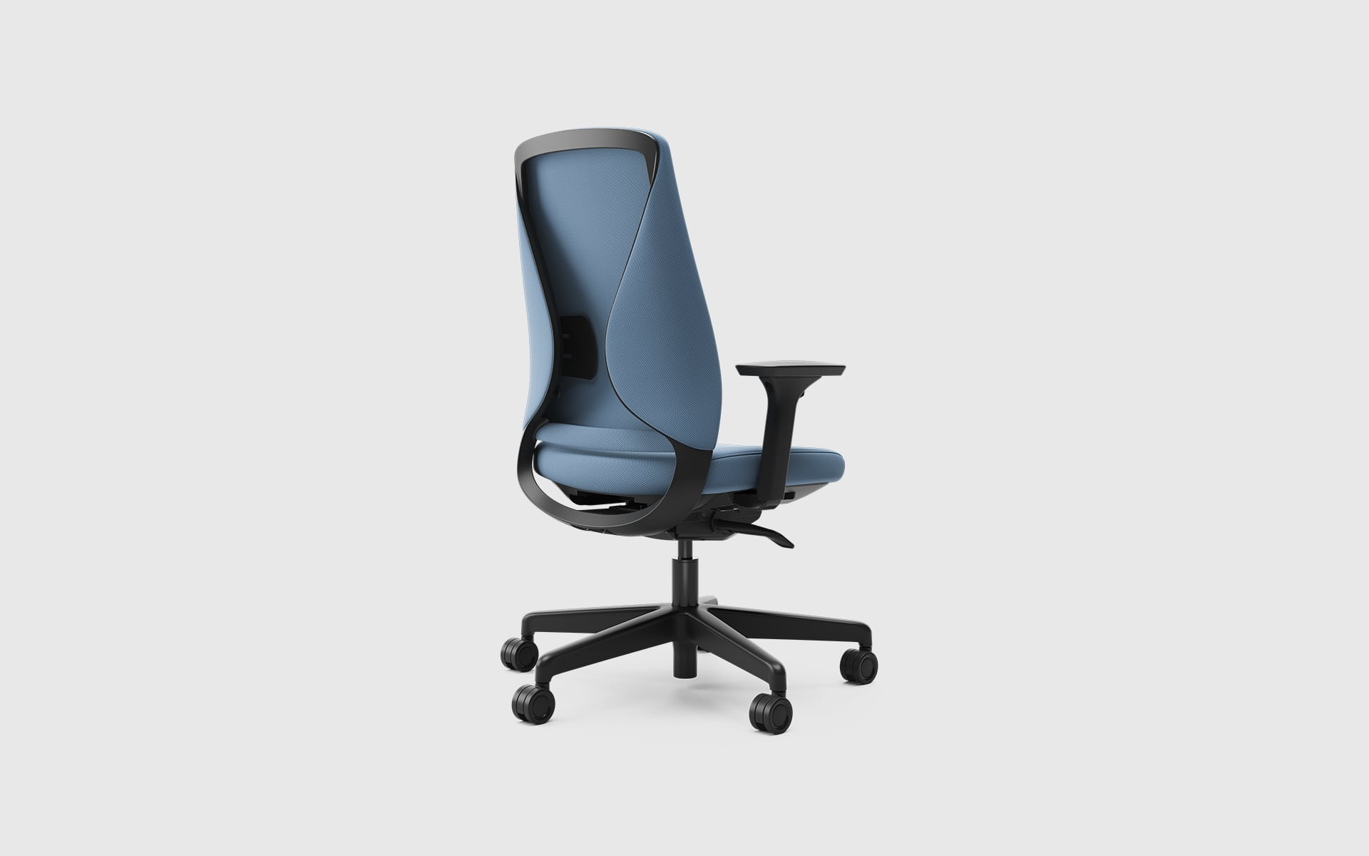 Comfordy Silhouette office chair by ITO Design with light blue upholstery