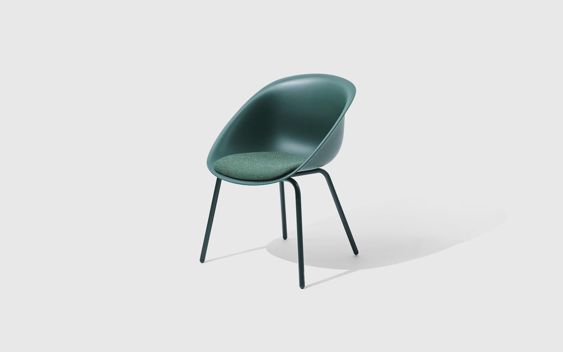 The ITOKI Wan shell chair by ITO Design in dark green
