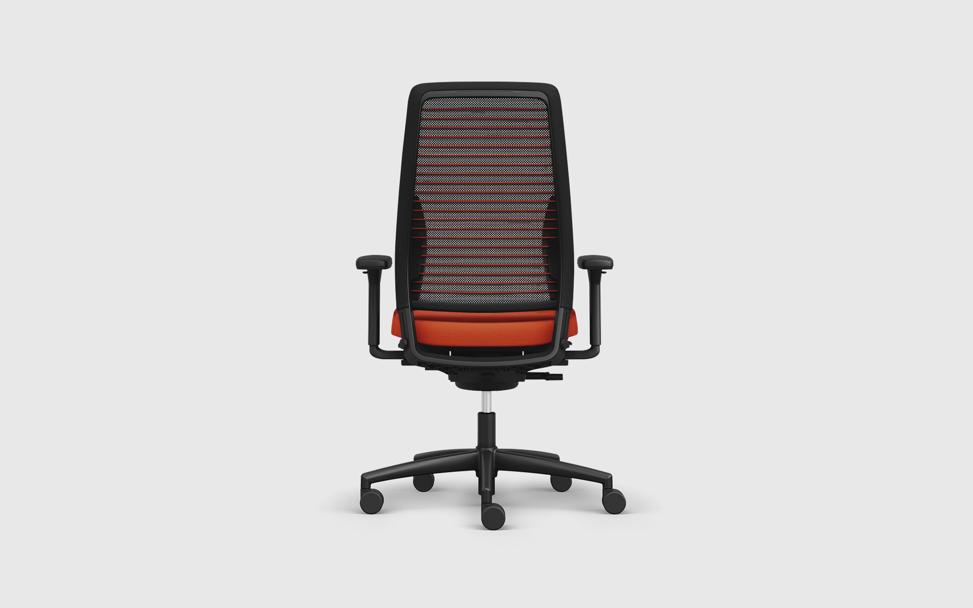 The K+N Okay III office chair by ITO Design in black and orange