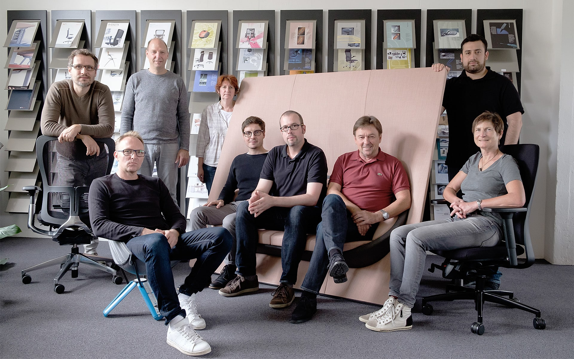 The German ITO Design team in their office